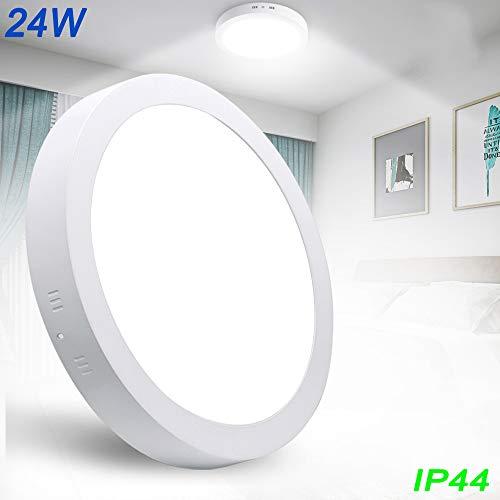 W-LITE Deckenleuchte 24W, LED Panel Einbauleuchte, Kaltweiß Downlight, Deckenlampe Rund für Wohnzimmer, Schlafzimmer, Kinderzimmer,...