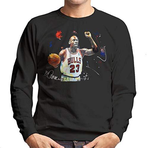 VINTRO Michael Jordan - Sudadera de baloncesto para hombre, diseño de Michael Jordan Negro negro azabache S
