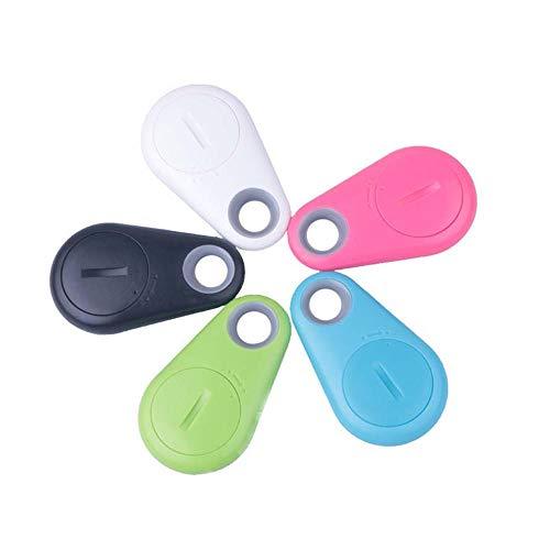 HUAYUAN Mini rastreador inalámbrico Bluetooth Localizador GPS Inteligente Bolsa para niños Monedero Buscador de Llaves para Mascotas Recordatorio de Alarma Anti-perdida 5PCS-5 Piezas