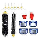 Timker Kit Repuestos y Accesorios Filtro y Cepillo Lateral Compatible con iRobot Roomba Serie 600 : 605 610 616 620 625 630 631 632 639 650 651 660 670 680 681 691