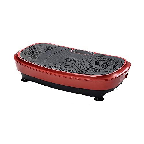 MSTSCKOWEPR Professionelle Vibrationsplatte 3D-Wippen-Vibrationstechnologie+Bluetooth-Musik,2 leistungsstarke Motoren+Fernbedienung+Trainingsbänder