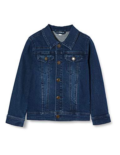 ESPRIT KIDS Jungen RQ4100401 Jacket Jacke, Blau (Dark Indigo Denim 461), (Herstellergröße: 116+)