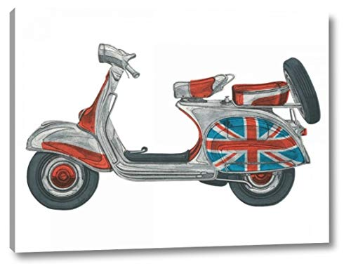 """Vespa by Barry Goodman - 9"""" x 12"""" Canvas Art Print Gallery Wrapped - Ready to Hang"""