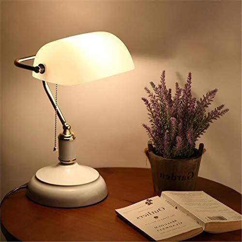 nakw88 Lámpara de Mesa Lámpara Classic Bankers Desk Lamp Lámpara de latón Pulido con Cabeza giratoria de Vidrio Verde, 002