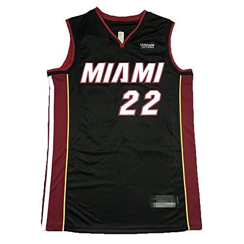Camiseta de baloncesto sin mangas para hombre, camiseta de baloncesto Jimmy Miami NO.22 Heat Butler jugador Jersey de baloncesto uniforme de secado rápido transpirable sudadera