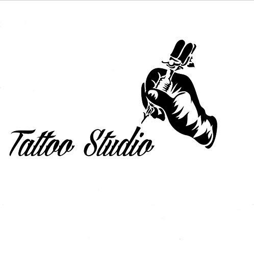 Tatouage Vinyle Autocollant De Tatouage Machine Sticker Fenêtre Fenêtre Art Décorations Tatouage Salon Room Decor Boutique Décoration 42x75 cm