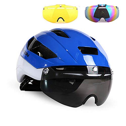Moon 3 Lens Casco de Bicicleta En el Molde MTB Bike Gafas Deportivas Casco Hombres Mujeres Riding Racing Time-Trial Road...