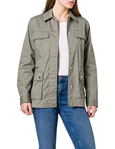 Tommy Hilfiger Cotton Blend Field Jacket Chaqueta, Gris, S para Mujer