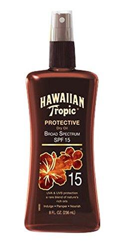 Hawaiian Tropic Sunscreen Protective Tanning Dry Oil Broad Spectrum Sun Care Sunscreen Spray - SPF...