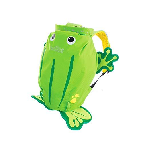 Trunki PaddlePak - Mochila infantil impermeable para piscina y gimnasio, Verde, 37 x 29 x 17 cm