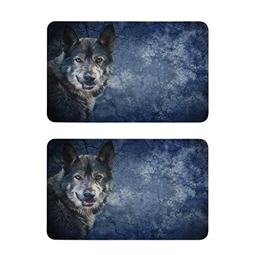 Mnsruu Imanes decorativos para nevera, 2 unidades, diseño vintage de lobo de perro