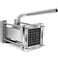 Sopito Taglia Patate, Fritte Acciaio Professionale Patata Fresa con Lame da 1/2 Pollice per Uso Domestico e Commerciale