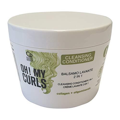 Oh! My Curls - Co-Wash Cleansing Conditioner - Crema Balsamo Professionale con Cheratina per Capelli Ricci e Mossi - Uso Frequente - 250 ml