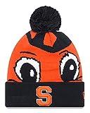 New Era シラキュース オレンジ NCAA ロゴ Whiz 3インチ 折り返しニット帽 ポンポン付き