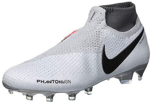 Nike Unisex Adults' Phantom Vsn Elite Df Fg Football Boots, Multicolour (Racer Blue/Black/Metallic Silver/Volt 400), 7.5 UK