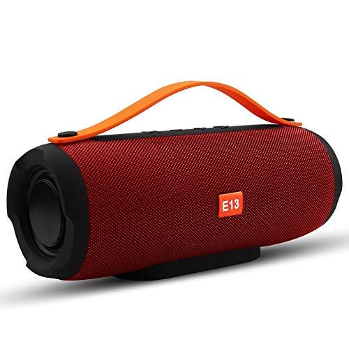 -E13 Mini Altavoz De Bluetooth Inalámbrico Portátil Alta Altavoz De Altavoz De Radio Subwoofer Subwoofer con TF FM, Rojo Speaker