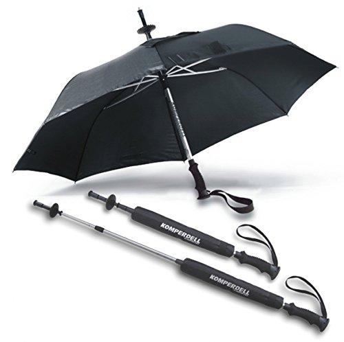 Europaraguas Unisex – Adulto Komperdell Stock/Paraguas, Negro, 72 cm