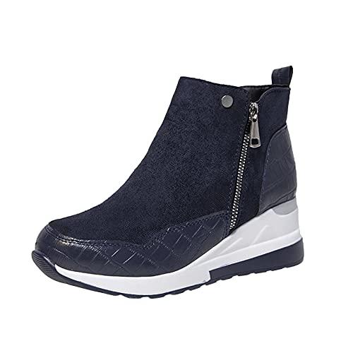 stivali neri alti al ginocchio scarpe classiche donna stivali bianchi donna alti stivali gomma donna giardino scarpe donna stivali invernali stivale estivo donna stivaletti (ZA-13Blue,38.5)