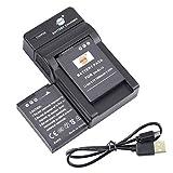 DSTE EN-EL12 - Batería y cargador para cámara Nikon Coolpix P300, P310, P330, P340, S31, S70, S610, S620, S630, S640 y S800c (2 unidades)