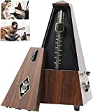 Summer-Spider Antique Mechanical Metronome, Imitation Peach Wood Pattern Appearance Music Timer for Piano Guitar Violin Musical Instrument