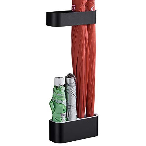 Esdella Umbrella Holder for Home Space Aluminum Wall Mounted Umbrella Rack Organizer Holder Umbrella Storage Indoor Black Two-Tier