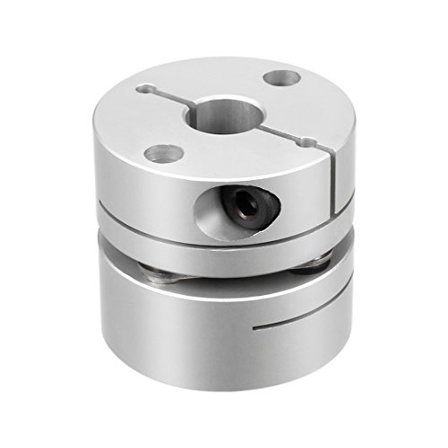 uxcell 8mm to 10mm Bore One Diaphragm Motor Wheel Flexible Coupling Joint