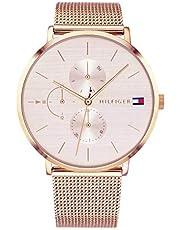 Tommy Hilfiger 1781944 Dameshorloge met meerdere wijzerplaten, kwarts horloge met roségouden armband