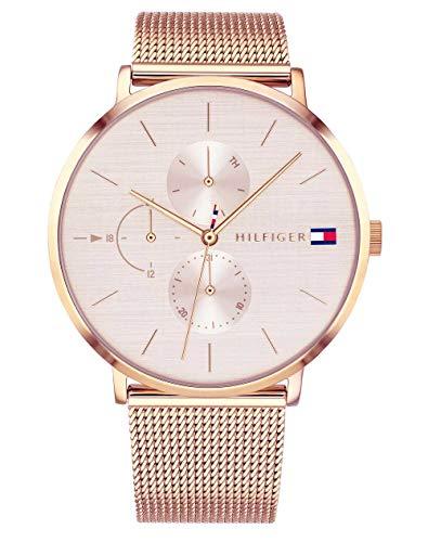Tommy Hilfiger Damen Multi Zifferblatt Quarz Uhr mit Roségold Armband 1781944