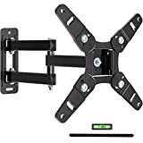 JUSTSTONE Full Motion TV Wall Mount Bracket Articulating Arms Swivels Tilts Extension Rotation for Most 13-45 Inch LED LCD Flat Curved Screen TVs & Monitors,Fits Max VESA 200x200mm Up to 55LBS