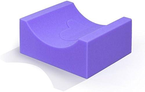 MediChoice Foam Cradle Head Positioner Adult Disposable Single Use Purple 1314P40400 Each of product image
