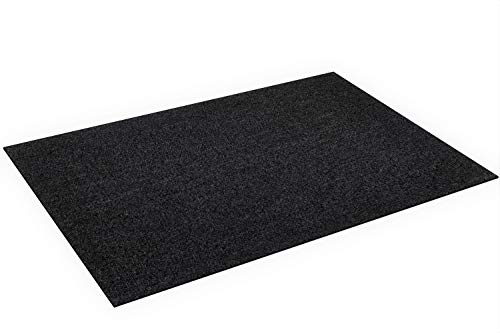 BBQ Grill Splatter Mat for Gas Electric Oven & Smokers - Absorbent Grill Pad Washable Floor Mat Protects Deck and Patio from Grease Splatter (30'' x 48'', Black) Plus Reusable Cleaning Cloths(2)