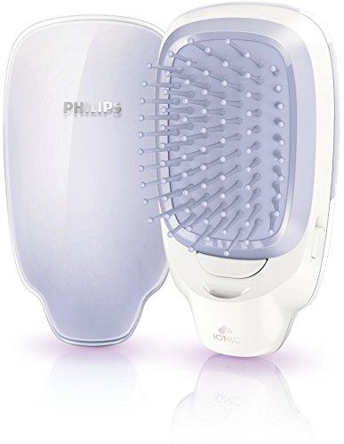 Philips EasyShine HP4585/00 Stylingbürste mit Ionisierungsfunktion, Lila/Weiß, 65x120x40mm, 1xAAA-Akku