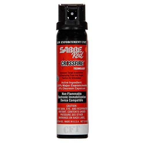 Sabre Red Crossfire Pepper Spray Gel 3 oz Expire 2025
