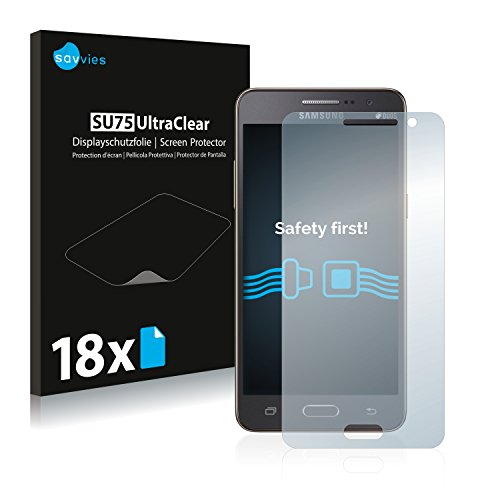 Savvies 18x Schutzfolie kompatibel mit Samsung Galaxy Grand Prime SM-G530H Bildschirmschutz-Folie Ultra-transparent