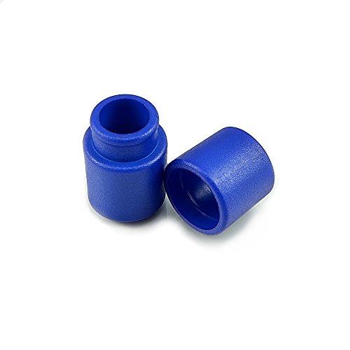 Ganzoo 10er Set Verbinder/Kordelverbinder,rund, zum verknüpfen von Paracord 550, aus Kunststoff für Paracord Armbänder, Kordeln etc, 2-teilig, Farbe: dunkel blau - Marke
