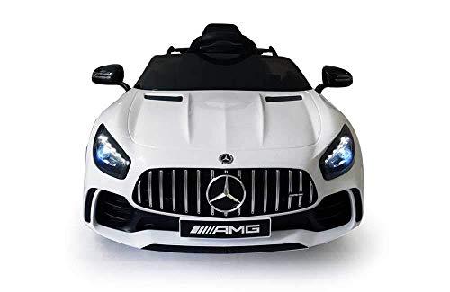 Babycar Mercedes GT-R AMG ( Bianca ) Nuova Versione Macchina Elettrica per Bambini Ufficiale con Licenza 12 Volt Batteria con Telecomando 2.4 GHz Porte Apribili con MP3