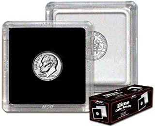 2x2 Coin Snap Holder Dime (17.9mm) Bundle of 25