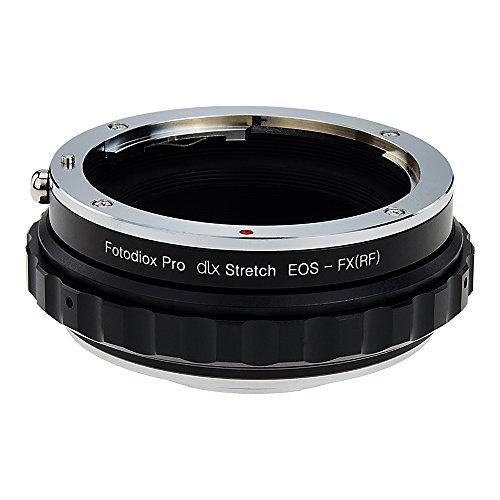 Fotodiox DLX Stretch–Adaptador para Objetivo Canon EOS (EF/EF-S) D/Objetivo a Fujifilm X-Series sin Espejo Cuerpo de cámara réflex con helicoide de Enfoque Macro y magnético de filtros