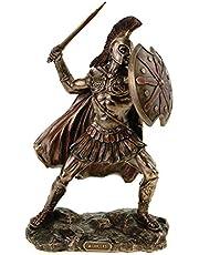 Veronese figuur van de achilles 25 cm bronskleurig met de hand beschilderd Troja Griekenland Hector
