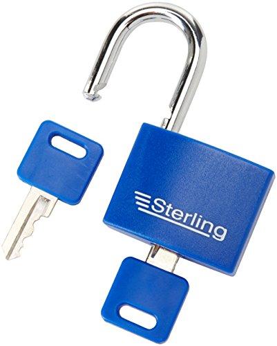 Sterling APL042P 40mm Aluminium Double Locking Padlock, Red Or Blue