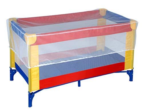 Klamboe muggennet voor babybed reisbed afmetingen 130 x 70 x 33 cm insectenbeschermingsnet gaasbed kinderen