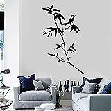 Kjlfow Etiqueta de la Pared de bambú Vinilo hogar Sala de Estar Art Deco Tatuaje Papel Tapiz 56x90cm