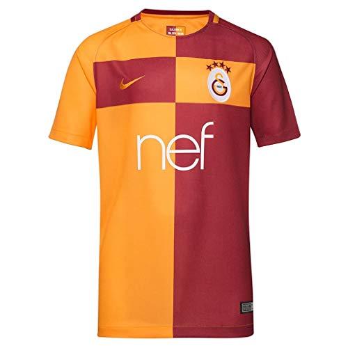 Nike Kinder Galatasaray Istanbul Heim Stadium 2017/2018 Teamtrikot, rot/Orange, L-147/158 cm