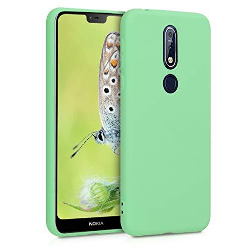 kwmobile Custodia Compatibile con Nokia 7.1 (2018) - Cover in Silicone TPU - Back Case per Smartphone - Protezione Gommata Menta Matt