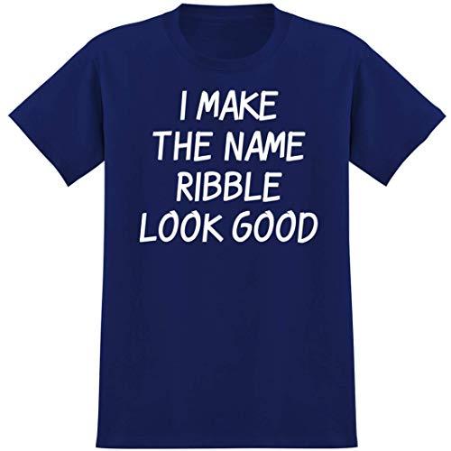 I Make The Name Ribble Look Good - Soft Men's T-Shirt, Blue, Xxx-Large