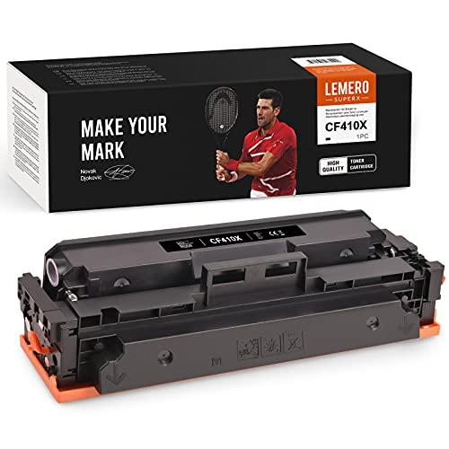 LEMERO SUPERX Tóner Compatible para HP 410X CF410X 410A CF410A Cartuchos de tóner para HP Color Laserjet Pro MFP M477fdw M477fnw M477fdn M452nw M377dw M452dn M452dw M477 M452 M377