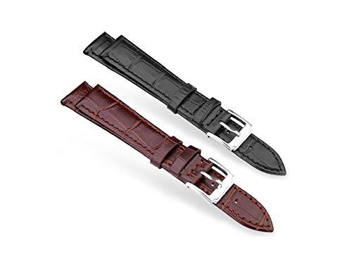 Uhrenarmband aus echtem Leder in Braun für 22 mm Stegbreite - 1 Stück