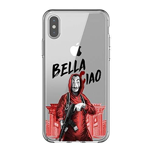 Todo Fundas Compatible con iPhone, Serie La Casa de Papel Rio Nairobi Profesor Tokio Denver Moscu Andres Dinero Berlin Carcasa Silicona (iPhone...