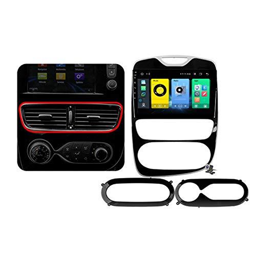 Gokiu Android 9.1 GPS Navigation Stereo Radio para Renault Clio 4 ZOE 2012-2019, 10,1' Pantalla Coche Media Player Soporte Carpaly/5G FM RDS/Control Volante/Bluetooth Hands-Free,2016~2019,7862: 6+128