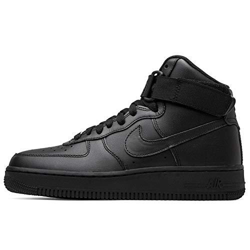 Nike Wmns Air Force 1 High, Zapatos de Baloncesto para Mujer, Negro (Black/Black/Black 013), 38.5 EU